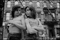 USA. New York City. 1976. Little Italy. Dee and Lisa on Mott Street.