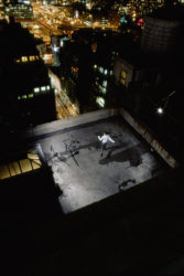 (Detail). Exposure #1: N.Y.C., 545 8th Avenue, 01.07.00, 10:37 p.m.