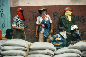 NICARAGUA. Matagalpa. Muchachos await the counterattack by the National Guard.