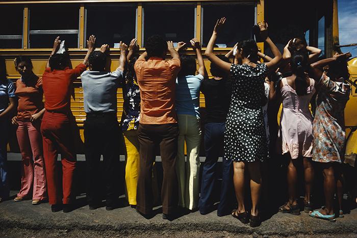NICARAGUA. Cuidad Sandino. Searching everyone traveling by car, truck, bus or foot.