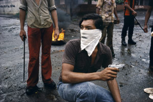 NICARAGUA. Managua. 1979. Street fighter.