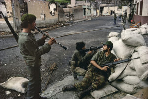 NICARAGUA. Matagalpa. 1979. Sandinista barricade during last days of fighting in Matagalpa.