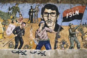 NICARAGUA. Masaya. 1986. Mural featuring Nicaraguan heroes.