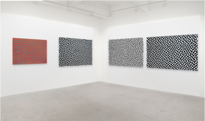 Installation view of Daniel Temkin dithers
