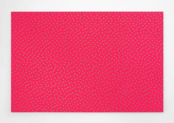Floyd-Steinberg, 12.5% Green. Acrylic on panel by Daniel Temkin