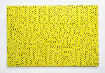 Floyd-Steinberg, 16.4% Lavender. Acrylic on panel by Daniel Temkin