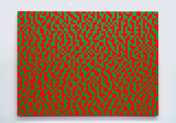 Two-Row Sierra Dither, 45% Green by Daniel Temkin